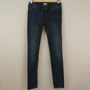 HUDSON   collin mid-rise skinny jeans in sio wash